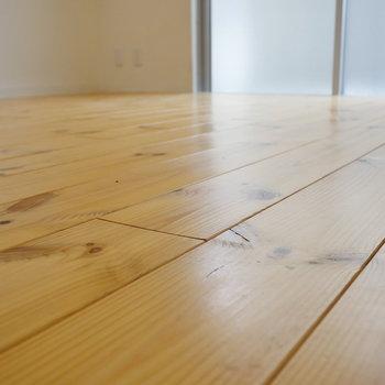 あぁ、無垢床が素敵。
