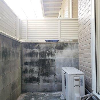 塀に高さがあるので1階でもなんとなく安心できる!
