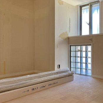 工事中】寝室も前面無垢床張り。んーー贅沢。