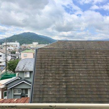 山が見えます。ヤッホー!