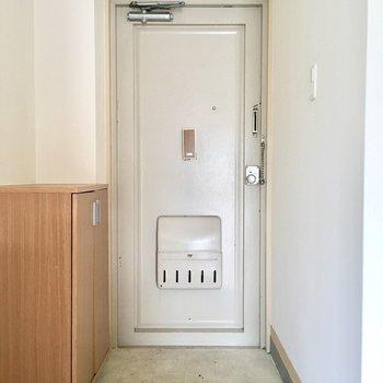 玄関もナチュラルで可愛い。(※写真は清掃前です)