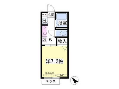 平塚12分アパート の間取り