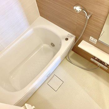 お風呂はゆったり浸かれそうです。