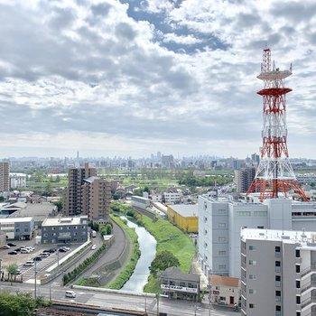16階からの見晴らし!小川を見渡せます。