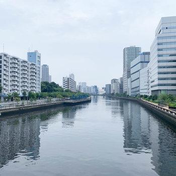 駅からの途中、橋から見える川が癒し。