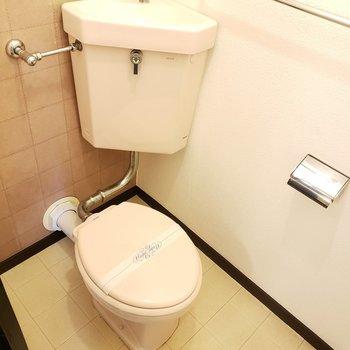 小さなトイレがちょこんと。