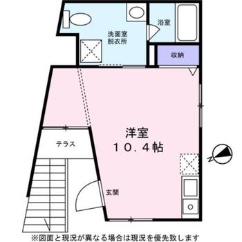 台形の様な間取りですが、家具配置も考えやすそうです。