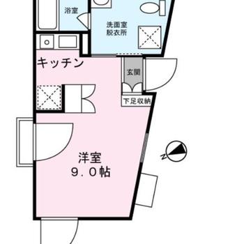 台形の間取りですが、家具配置はさほど困らなさそうです。