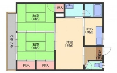 橋本アパートA棟 の間取り