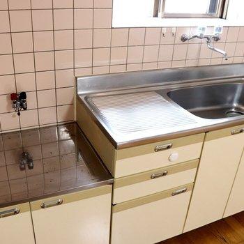 【DK】シンクは広めで調理スペースも