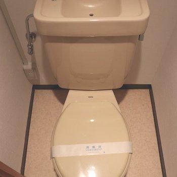 ゆっくり出来る個室トイレ
