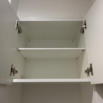 上にもちょっとした収納スペースがあります。