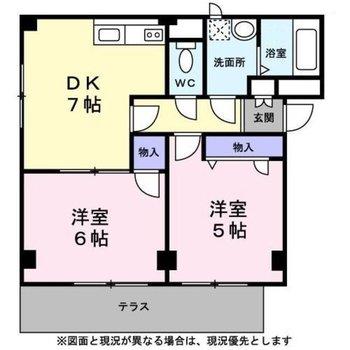 使い分けできそうな2DKのお部屋。