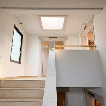 天窓のある内階段、め、珍しい・・・