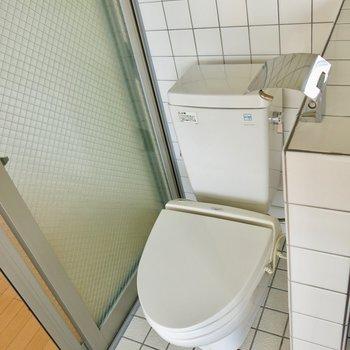 トイレ掃除が楽そう(※写真は2階の反転間取り別部屋のものです)