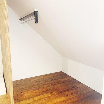 収納スペースはかなり小さめ。
