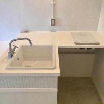 L字型のキッチンで作業スペースも確保できそう