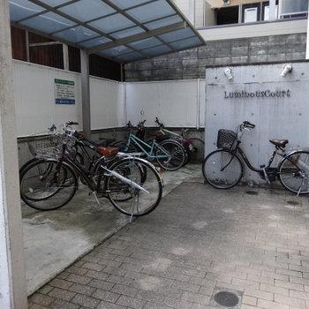自転車置き場もしっかりありましたよ!