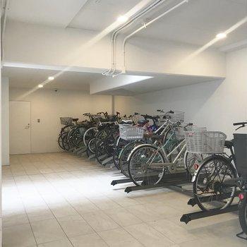 駐輪場も完備してます