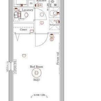 居室が広めな1Kのお部屋。