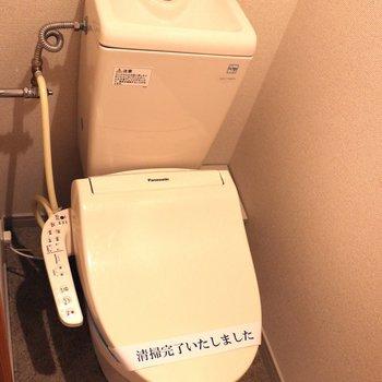 個室なので落ち着けるトイレ
