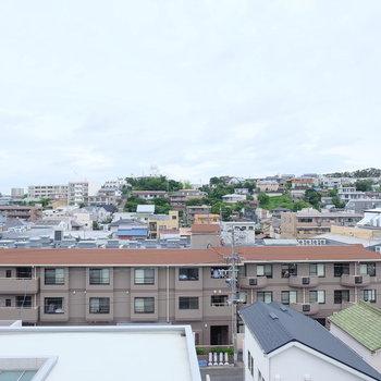 ルーバルからの眺めはこんな感じ。程よく緑も見えて何より開放感!