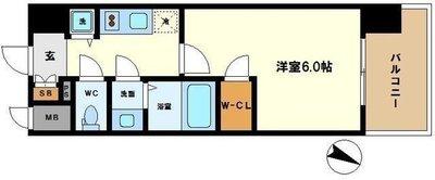 大阪の中心で暮らす。 の間取り