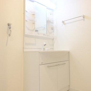 洗面台はきれいで使いやすいタイプ〜!※イメージ