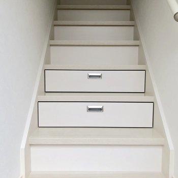 玄関の階段をよく見ると...