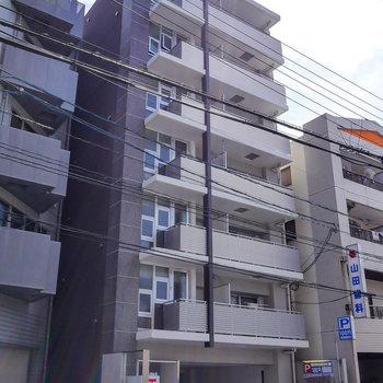 ドーンと、鉄筋コンクリートマンション。