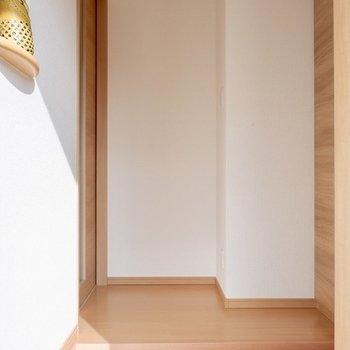 玄関にもコンセントがあるので、間接照明などを置くのもよさそうです