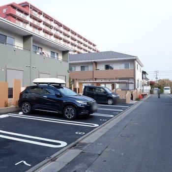 駐車場も完備されています