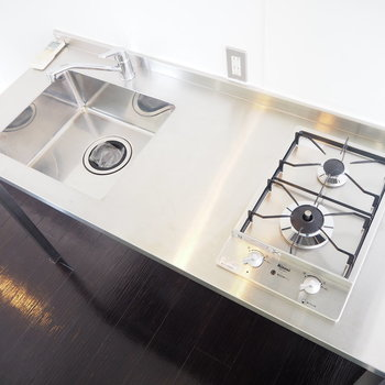 3F】お掃除し易いステンレスキッチン!