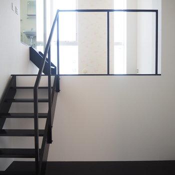 1F】2階への眺めです