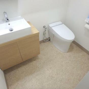 このトイレは汚したくないですね