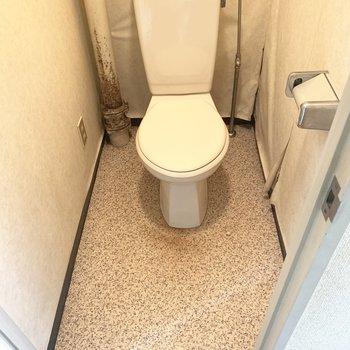 トイレはシンプルタイプ(※写真のお部屋は清掃前のものです)