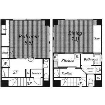 ビルの4,5階が住居です。