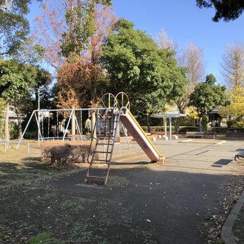 近くには公園も。のんびり過ごしたいときに良さそうです。