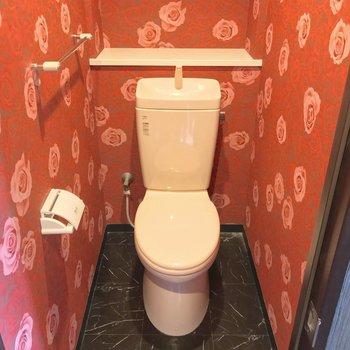 トイレはシンプル。物を置くなら生活感を隠したい(※写真は清掃前のものです)
