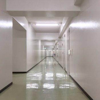 内廊下でスッキリと