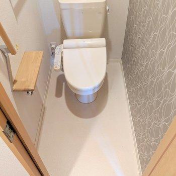 ウォシュレット付きのトイレ!(※写真は清掃前のものです)