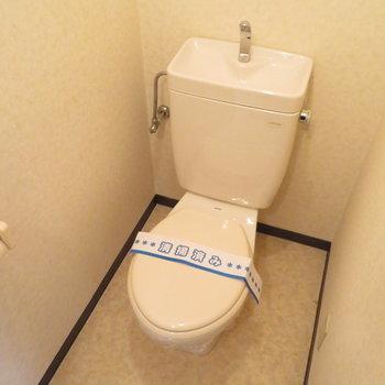 トイレはゆっくりと個室に
