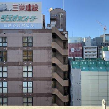 ビル街ですが、さすがの8階なので日当たり、眺望は悪くないです