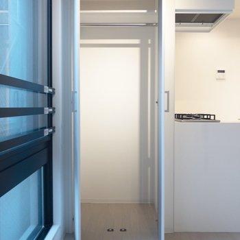 クローゼットはコンパクト※写真は2階の同間取り別部屋のものです