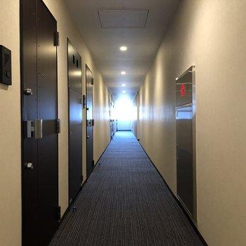 廊下は落ち着いた雰囲気
