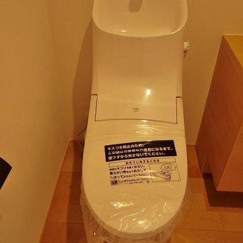 トイレもぴっかぴかです♪※写真は同タイプ1階のお部屋