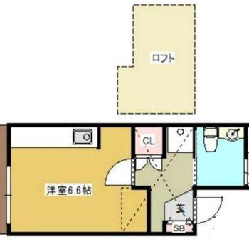 間取りはこんな感じ♪※2階の為専用庭はありません