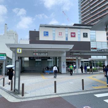 スーパーなども入った武蔵小山駅。