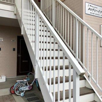 階段を登って2階まで。これは余裕ですね。
