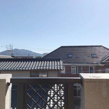 高い建物がないので、晴れた日はしっかり乾きそう。